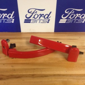 2002-2008-FORD-FIESTA-COLARADO-RED-DOOR-HANDLES-USED-FREE-POSTAGE-271658644281